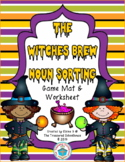 Noun Sorting Game with Worksheet - Witch