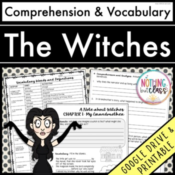 The Witches: Comprehension and Vocabulary by chapter