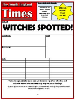 The Witches Comprehension Activities Booklet!