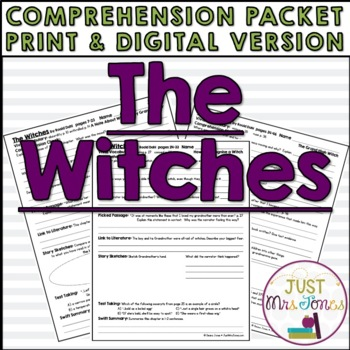 The Witches Comprehension Packet