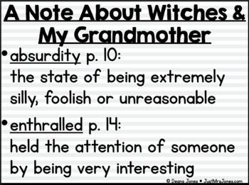 The Witches Novel Unit
