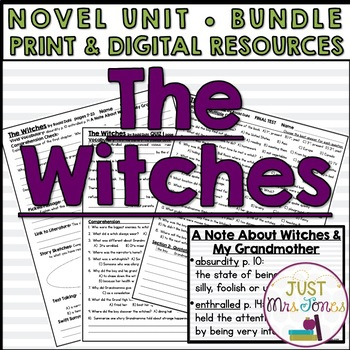 The Witches Novel Unit