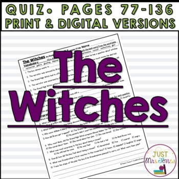 The Witches Quiz #2
