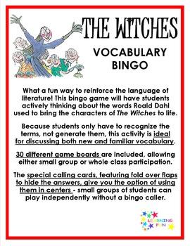 The Witches Vocabulary Bingo