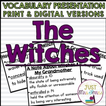 The Witches Vocabulary Presentation