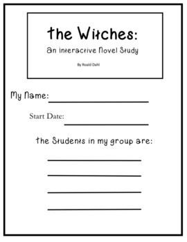 The Witches an Interactive Novel Study