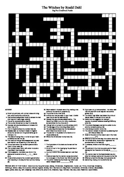 The Witches by Roald Dahl - Big Fun Crossword Puzzle