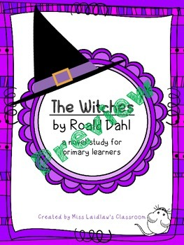 The Witches - Novel Study (FREEBIE) Prereading and Ch. 1