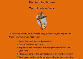 The Witch's Broom! (Halloween Multiplication Activity)
