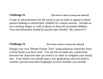 """""""The Witch's Guide to Cooking with Children"""", Project Challenges"""