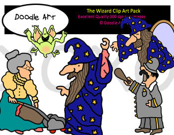 The Wizard Clipart Pack