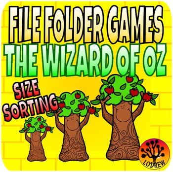 The Wizard Of Oz Centers File Folder Games Size Sorting Visual Discrimination