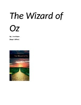 The Wizard of Oz -2nd-3rd grade Edition