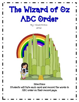 The Wizard of Oz ABC Order