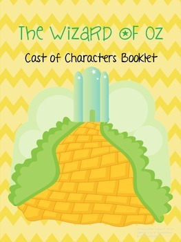 The Wizard of Oz Cast of Characters Book