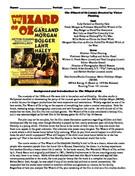The Wizard of Oz Film (1939) Study Guide Movie Packet