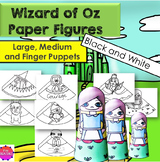 The Wizard of Oz Paper Cones-Figures to Assemble
