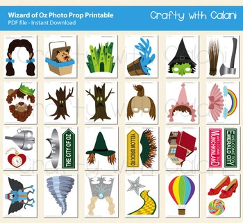 The Wizard of Oz Photo Booth Prop Printable