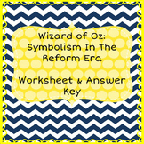 The Wizard of Oz: Symbolism in The Reform Era Worksheet &