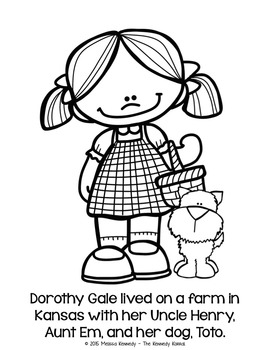 Coloring Story Book: Wizard of Oz