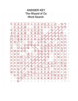 The Wizard of Oz Word Search