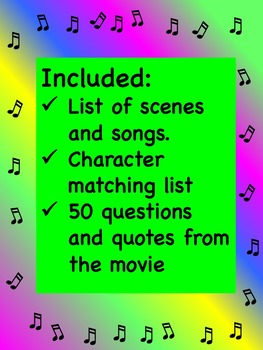 The Wizard of Oz Worksheet & Movie Project + Answer Key
