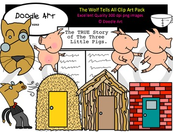 The Wolf Tells All Clipart Pack