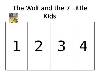 The Wolf & the Seven Little Kids organizer