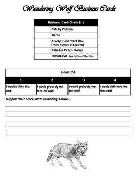 The Wolf's Story Activity