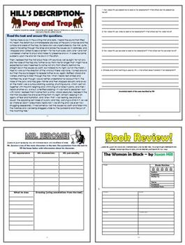 The Woman in Black Comprehension Activities Booklet!