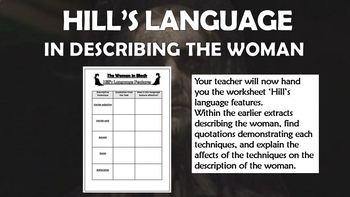 The Woman in Black - Hill's Description of the Woman!