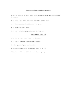 The Woman in the Snow and Pecos Bill Vocabulary Quiz Worksheet