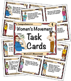 The Women's Movement Task Cards with Close Reading Pages