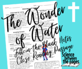 The Wonder of Water Fill-in-the-Blank Notetaking Guide and
