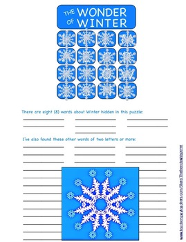 "The Wonder of Winter (Another game like ""Boggle™"")"
