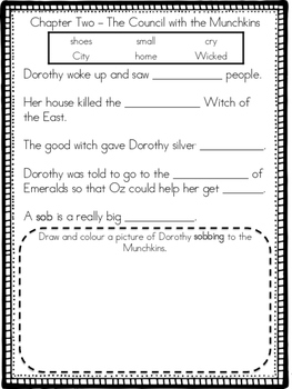 The Wonderful Wizard of Oz Adapted Chapter Activities