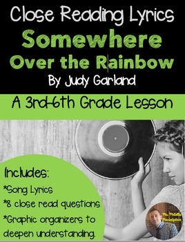 Somewhere Over the Rainbow Close Reading with Lyrics- Wiza