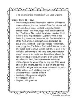 The Wonderful Wizard of Oz - Common Core Unit
