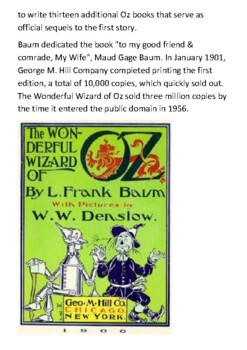 The Wonderful Wizard of Oz Handout