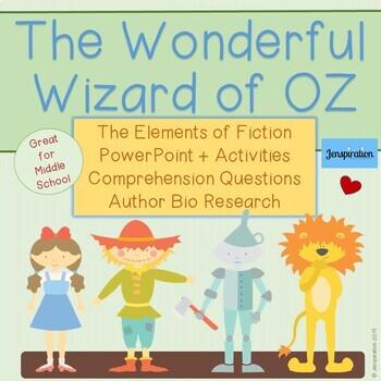 The Wizard Of Oz Novel Study Worksheets Teachers Pay