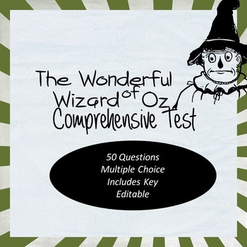 Wizard Of Oz Test Worksheets Teaching Resources TpT