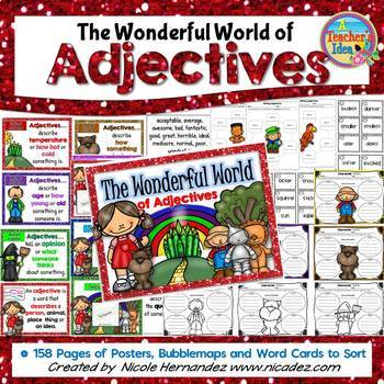 Adjective Posters, Worksheets and Word Cards