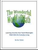 The Wonderful World of Math. Learning Activities that Teac