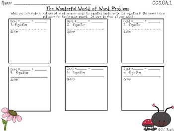 The Wonderful World of Word Problems