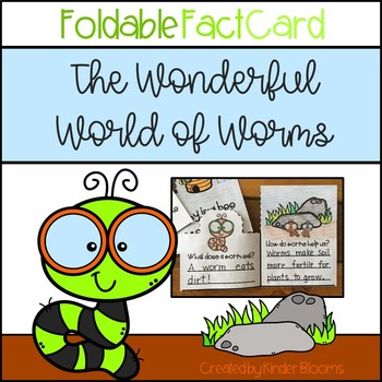 The Wonderful World of Worms {Foldable Fact Card}