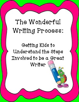 The Wonderful Writing Process-Helping Kids Become Great Wr