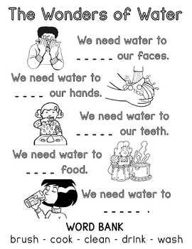 The Wonders of Water Worksheet