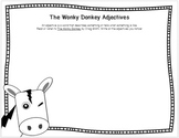The Wonky Donkey Adjectives Writing Worksheet FREE