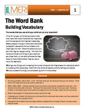 The Word Bank:  Building Vocabulary