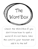 The Word Box- An alternative to a word wall